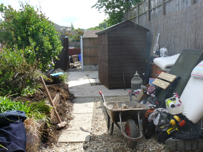 Commencing work on the landscaping job in Lightwood, Stoke-on-Trent