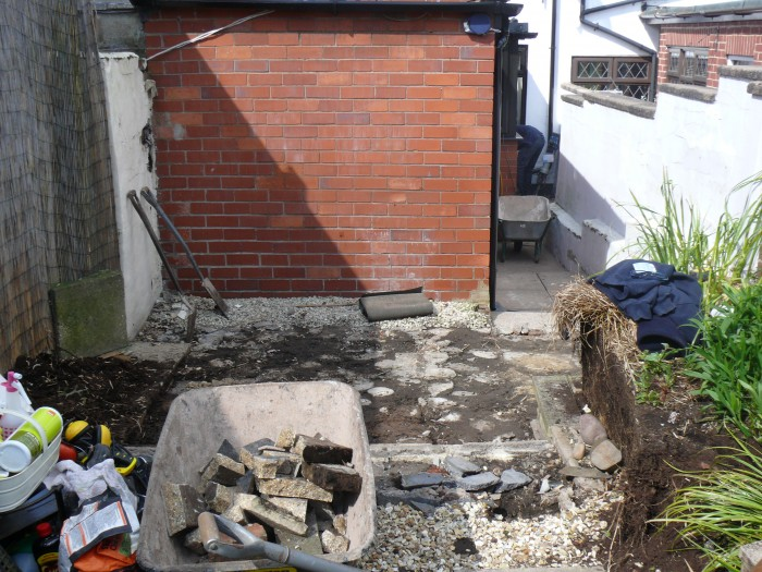 Landscaping job in Lightwood, Stoke-on-Trent - Digging out