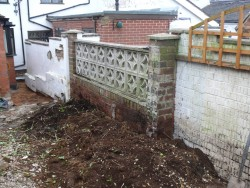 Existing Wall Before Work, Dodd, Lightwood 1