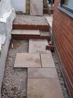 Patio Start, Steps Started, Dodd, Lightwood 1