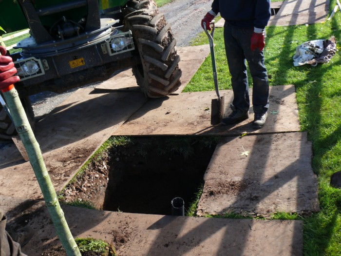 Drainage for Tree and Hedge Planting