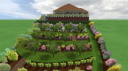 3D CAD Landscaping Scheme
