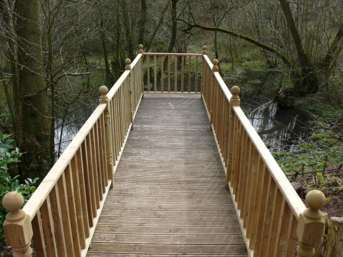 Raised Decking with Wooden Balustrading