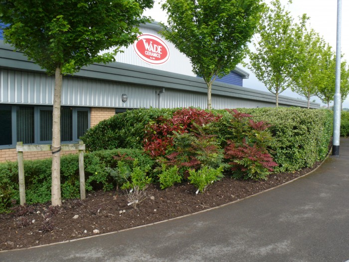 Commercial grounds maintenance carried out at an Industrial Unit