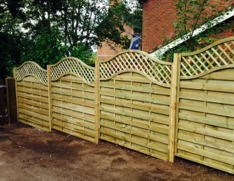 Arched Garden Fence