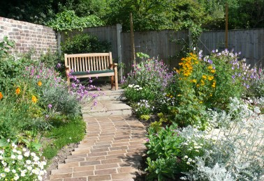 Back Garden Flower Beds and Borders