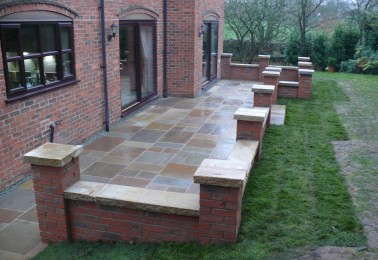 Brick Patio Wall Designs pretty and practical backyard ideas Landscape And Garden Design Jhps Gardens Jhps Gardens