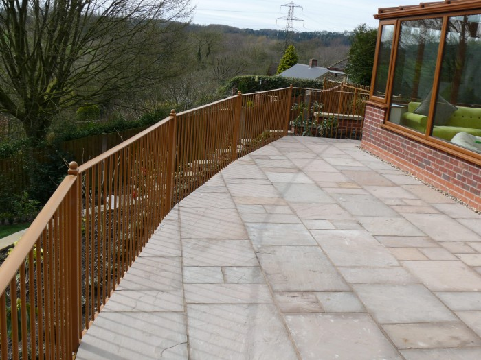 Indian Stone Patio Area - Landscaping in Staffordshire