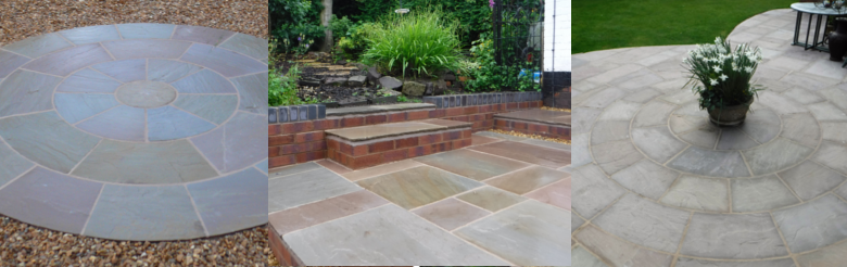 Patios and Terraces - Examples - Indian Stone