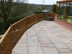Landscaping in Staffordshire Child friendly Patio Area