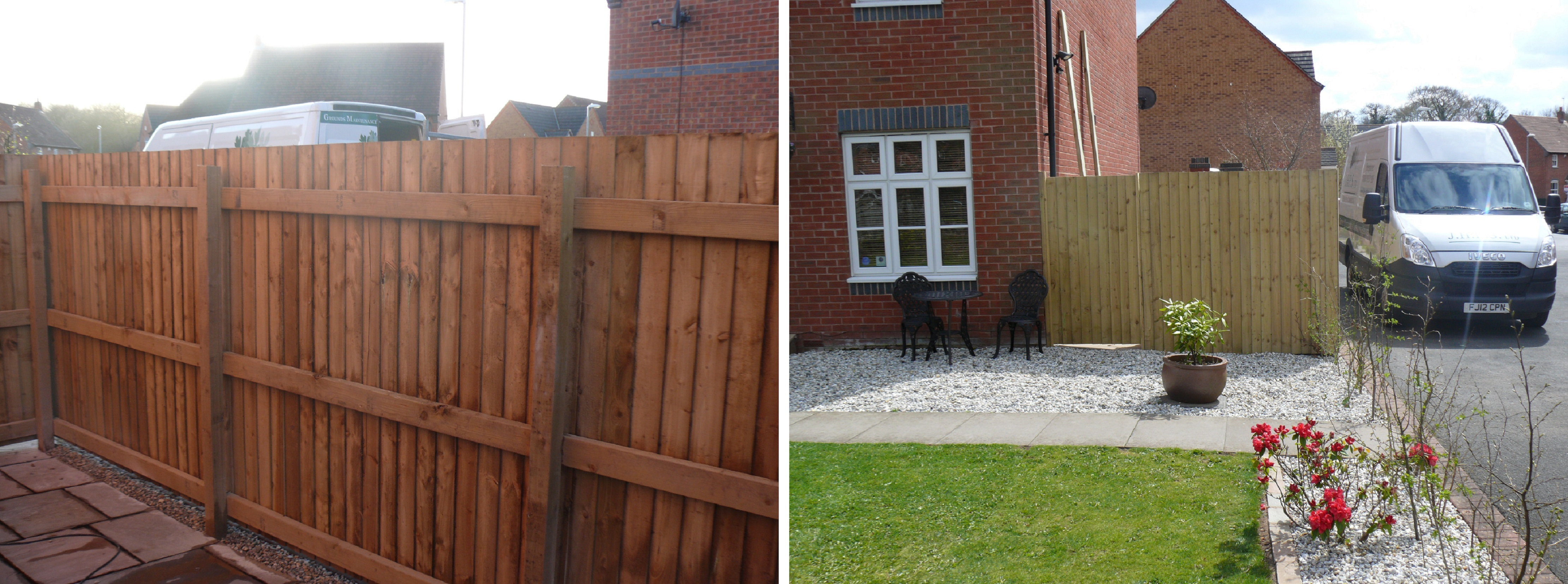 Slatted Fencing - Front and Back - Staffordshire