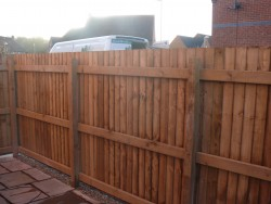 Slatted fencing in Trentham
