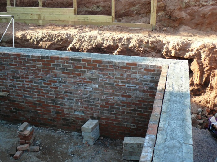 Brick Retaining Wall - Landscaping Staffordshire