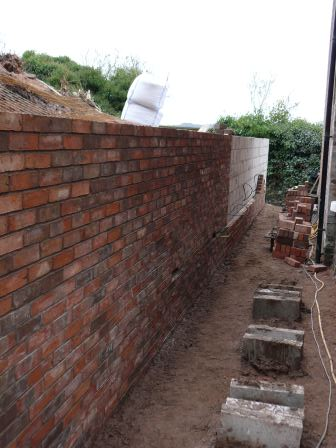 Brick Wall - landscaping in Cheadle
