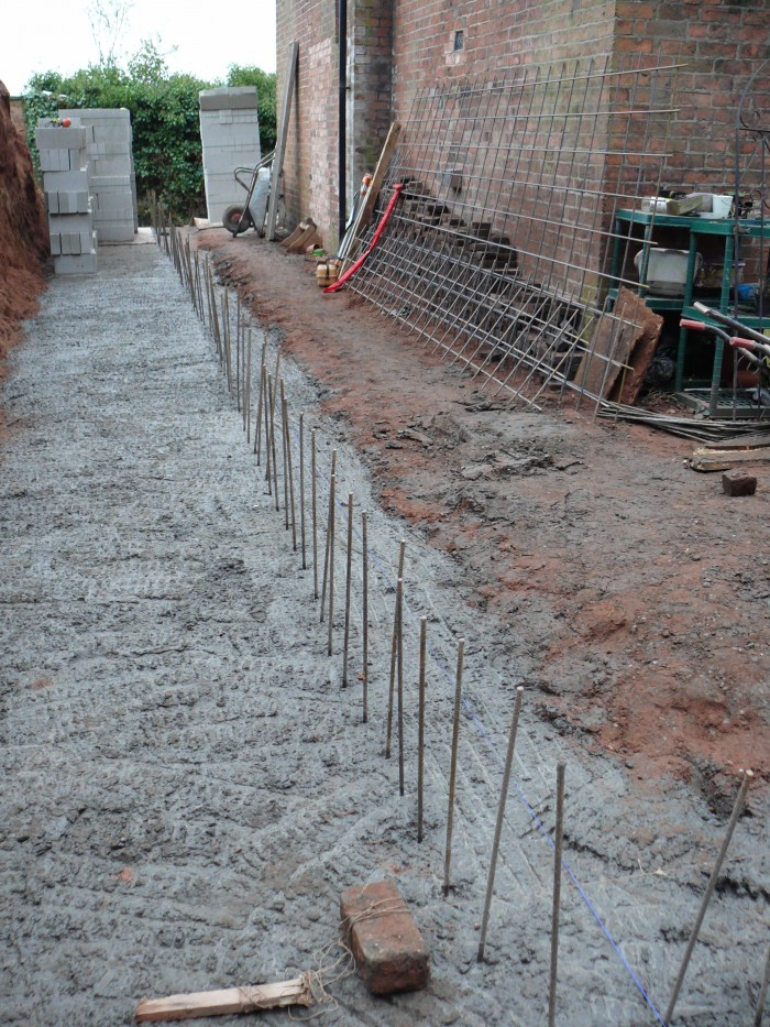 Brick Wall Foundations - Landscaping in Cheadle