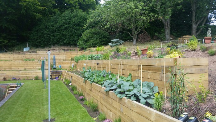 Turfing, Sleepers, Borders, Wall - Landscaping in Cheadle, Staffordshire