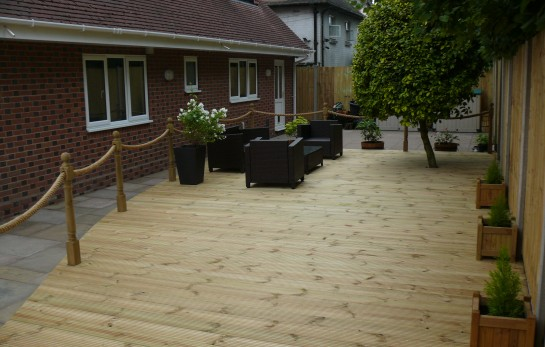 Landscaping in Cheshire - Decking