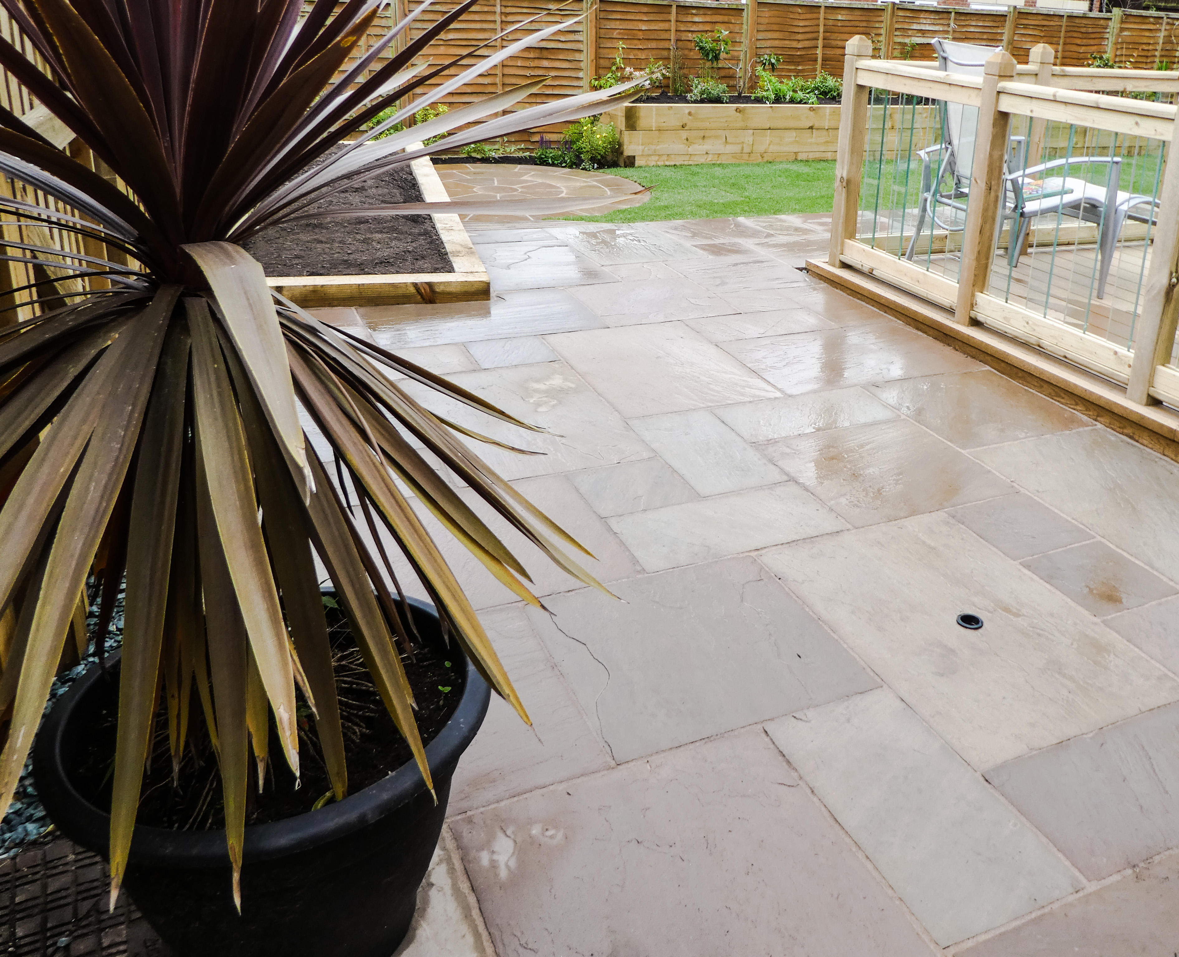 Indian Stone Patio - Landscaping in Cheshire