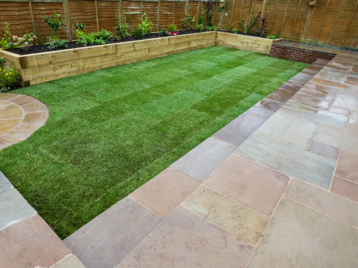 Landscaping in Cheshire - Patio and Turfing