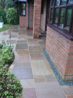 Landscaping in Cheshire - Indian Stone Path