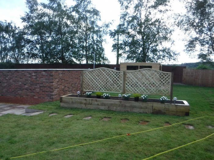 Raised Sleeper Borders - Landscaping in Barlaston