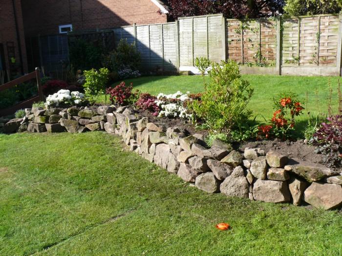 Stone Wall rebuilt, Davies, Congleton 2
