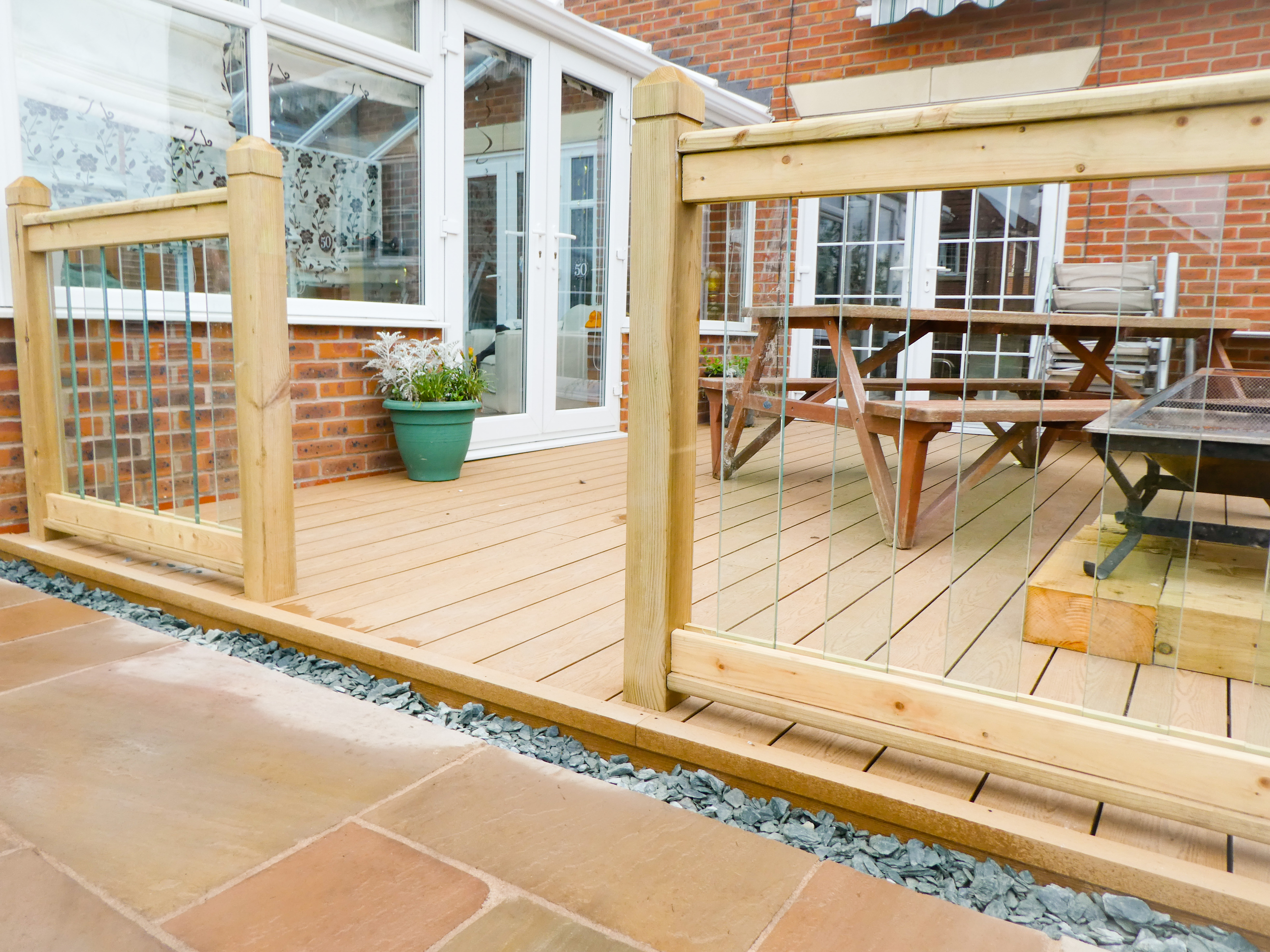 After Landscaping - Patio, Composite Decking