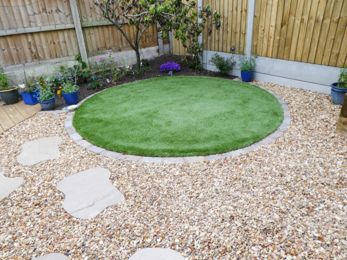 Feature Circle Turfed - Landscaping in Cheshire