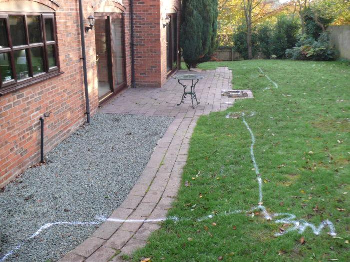 Before Landscaping in Prestbury