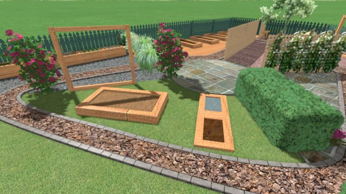 3D CAD Drawing - Landscaping in Knutsford, Cheshire