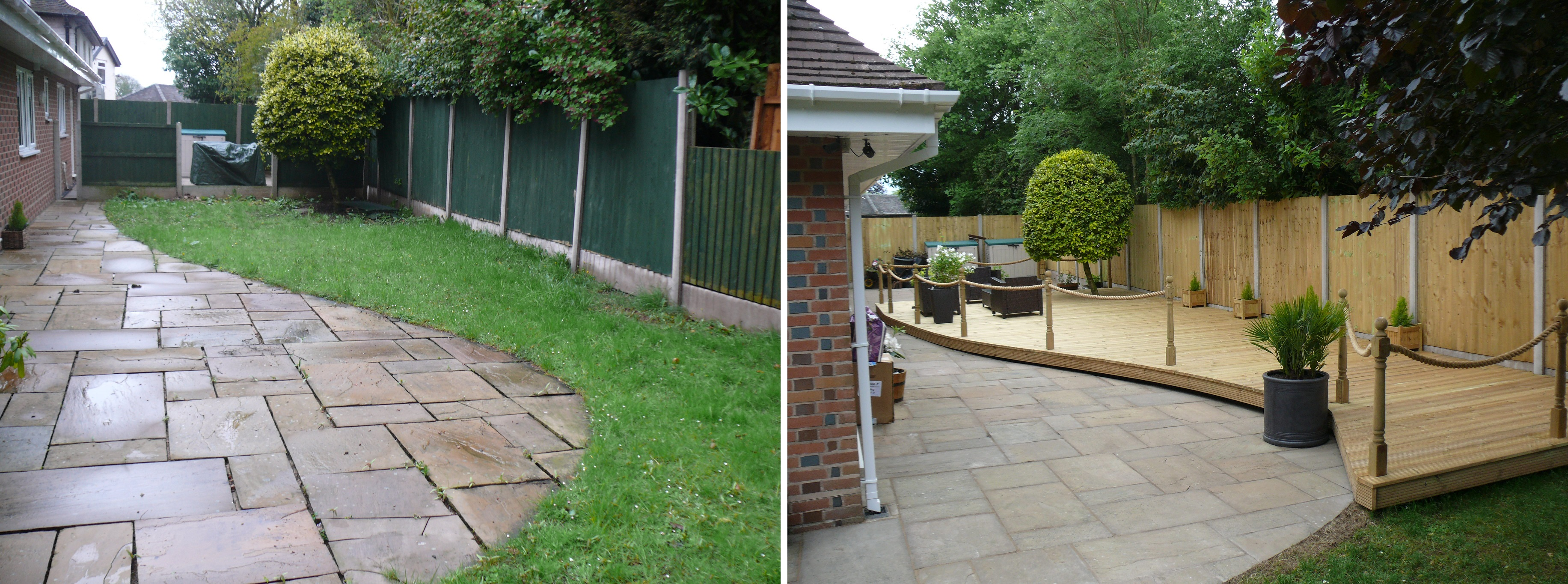 Landscaping in Mottram St Andrew - Before and After