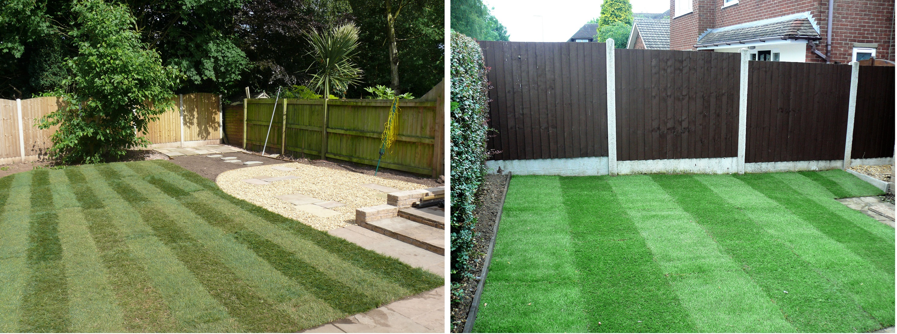 Turfing Completed - Landscaping in Blythe Bridge