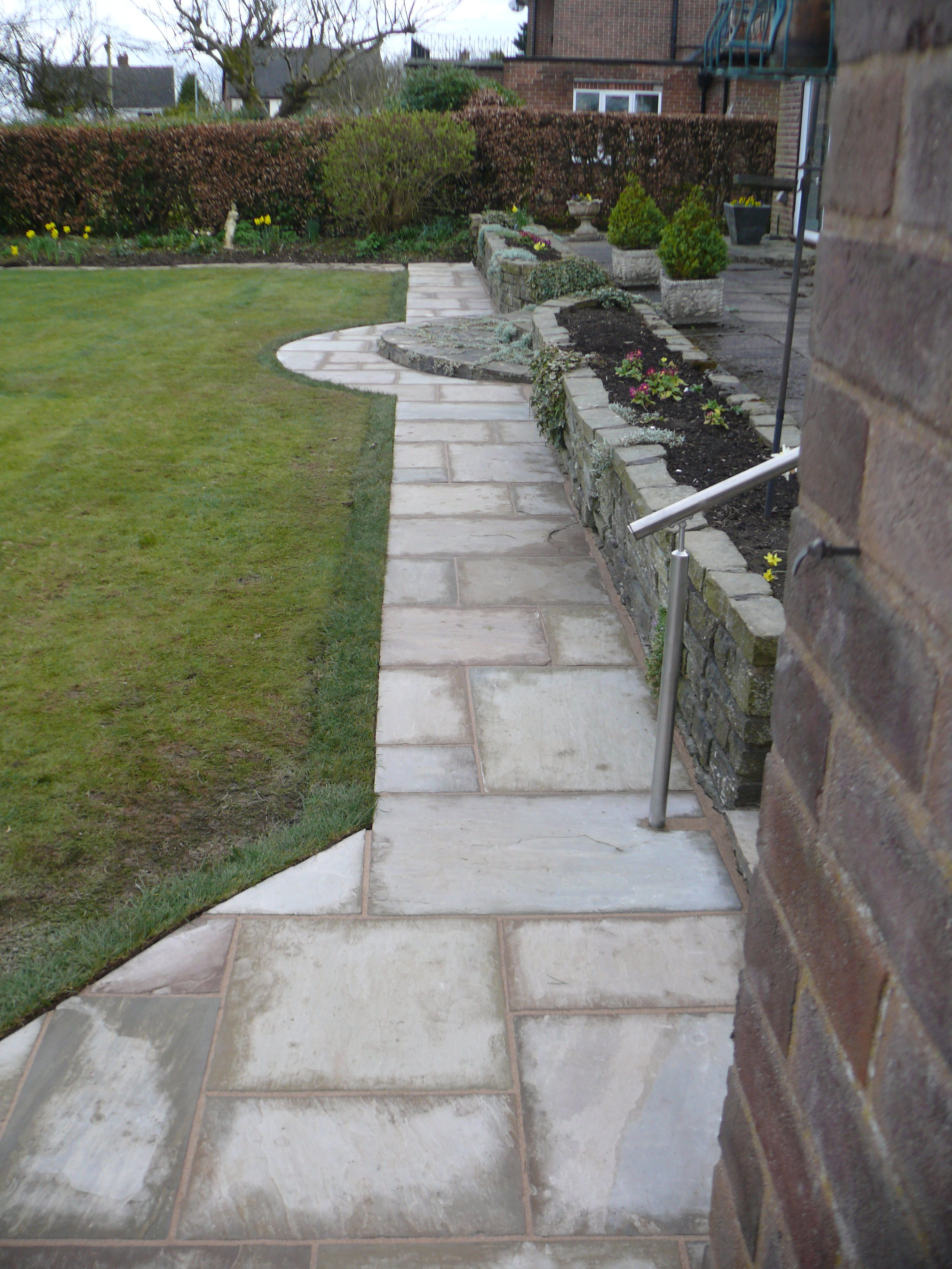 Indian Stone Path - Landscaping in Staffordshire