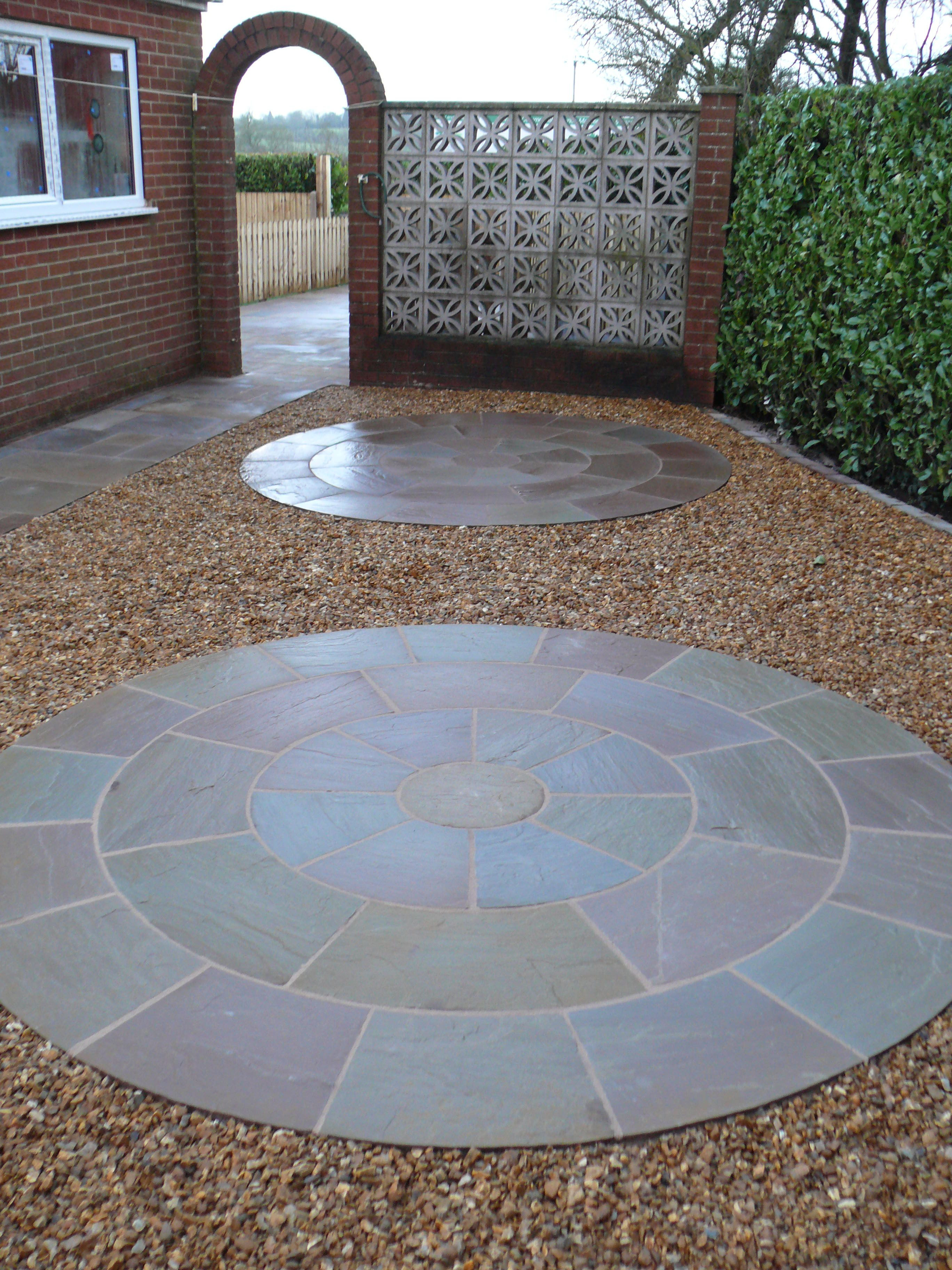 Gravel Area with Stone Circles - Landscaping in Westlands