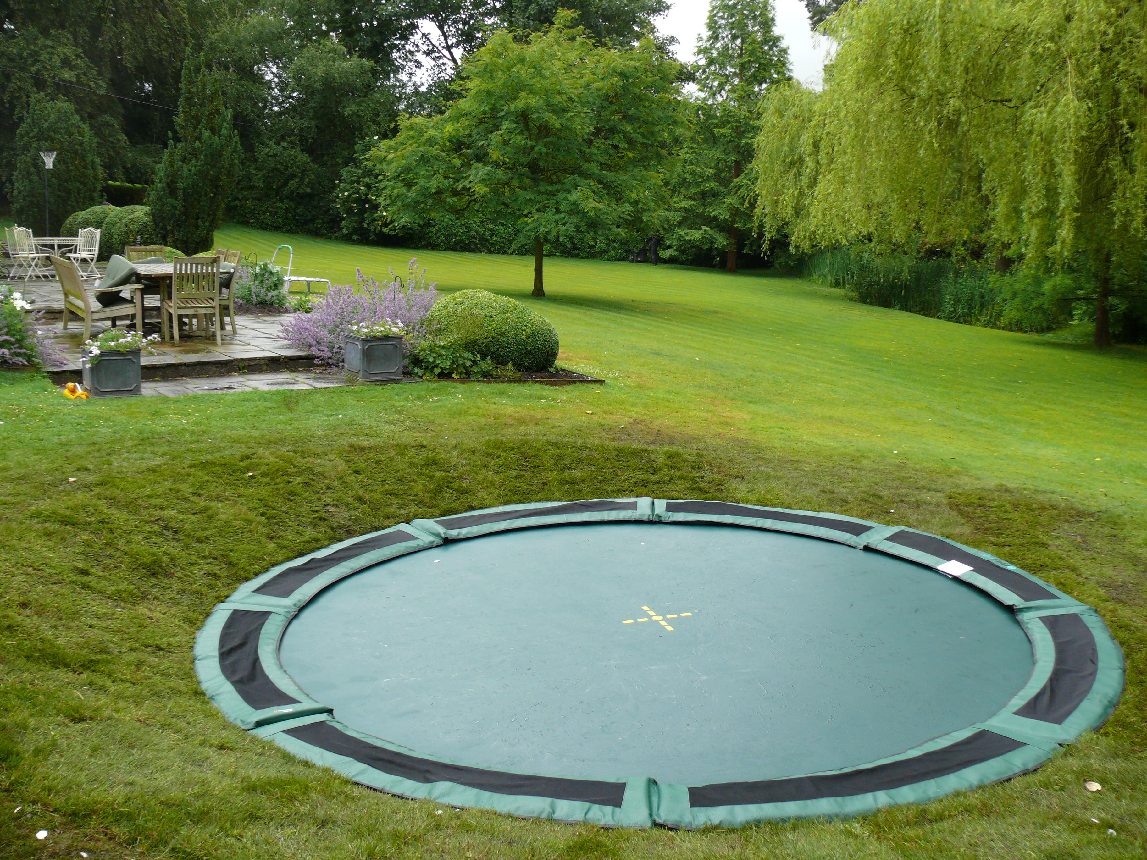Landscaping in Macclesfield - Sunken Trampoline