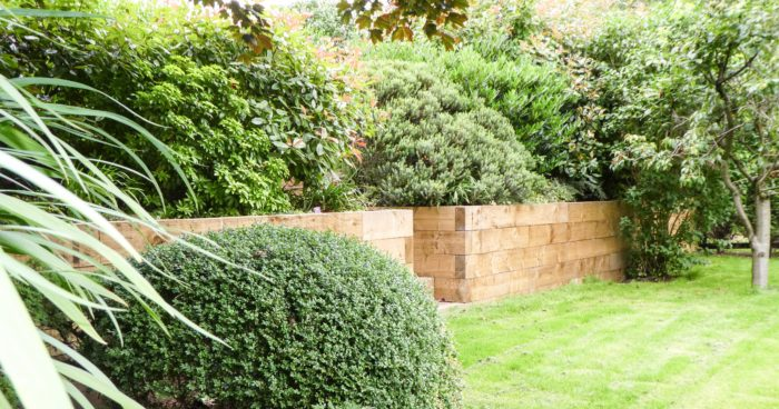 Wooden Sleeper Wall - Landscaping in Stoke-on-Trent