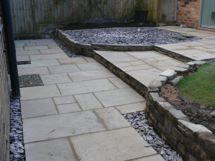 Landscape Gardener in Wilmslow - Indian Stone Path
