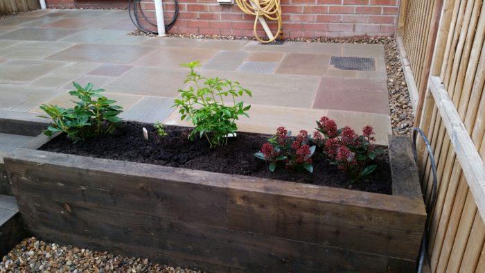Raised border and patio - Landscape Gardener Cheshire