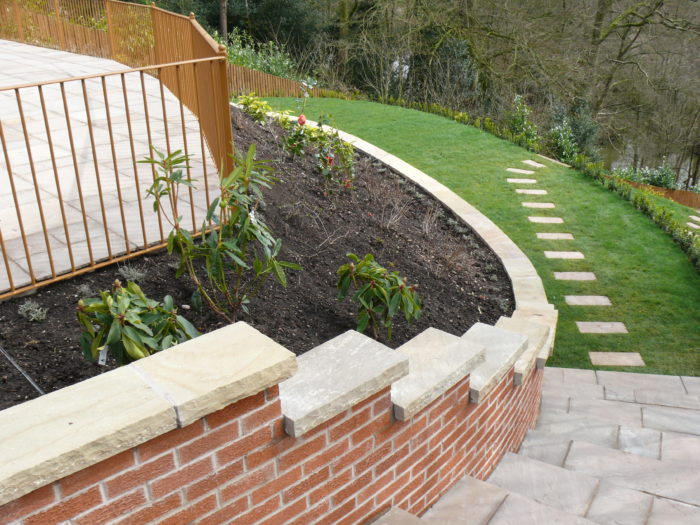 Landscaping in Brown Edge, Staffordshire - Brick Wall
