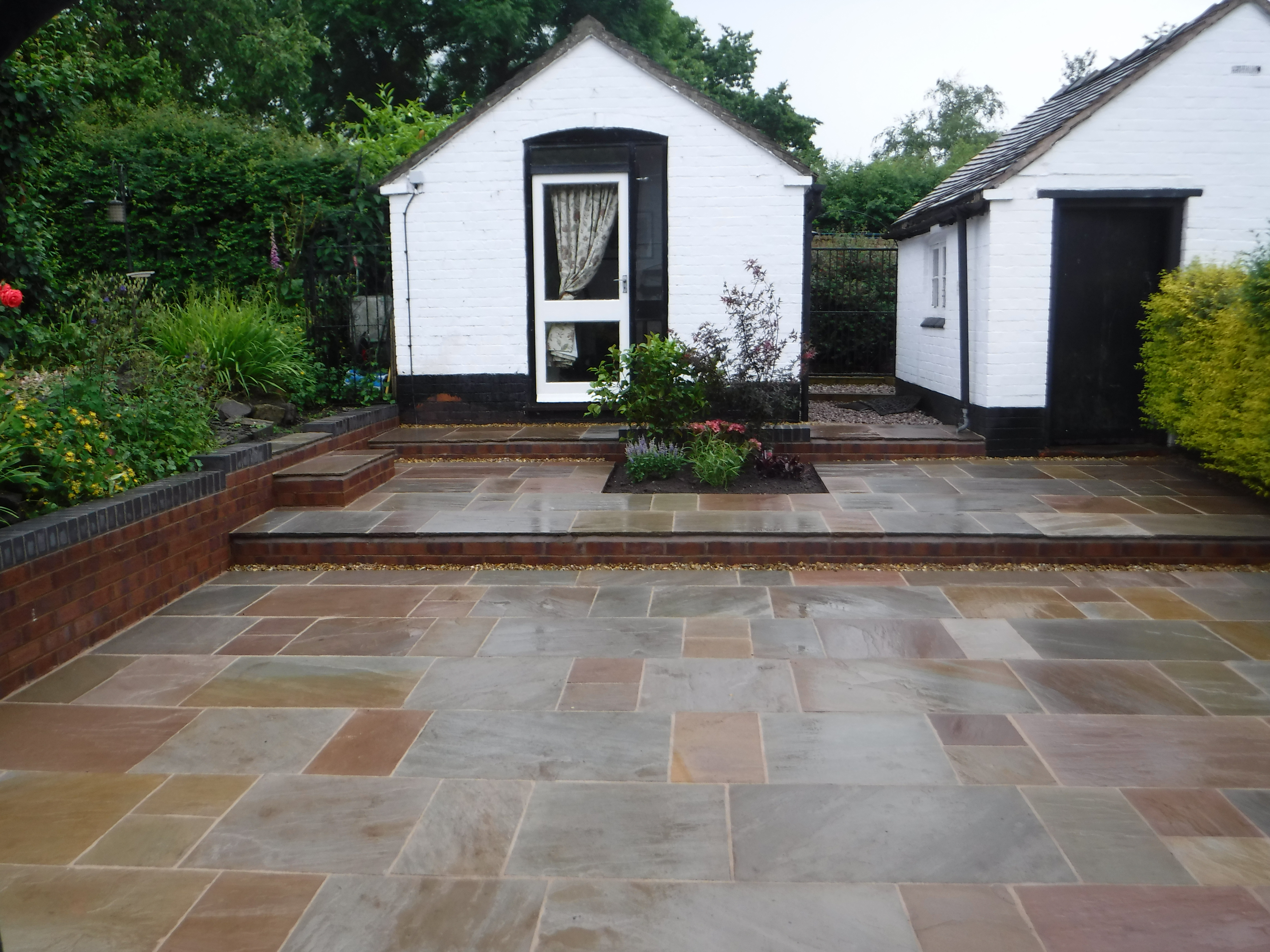 Landscaping in Holmes Chapel - Indian Stone Terrace