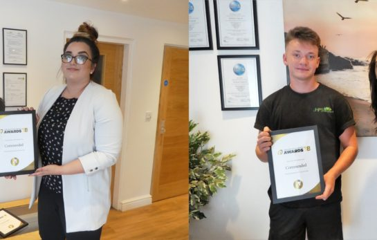 Ryan and Kianat - Young Employees Commended
