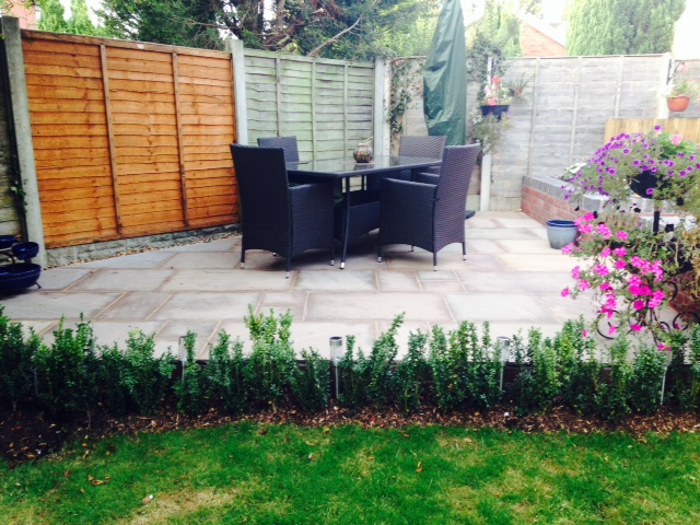 Landscaping in Trentham - Patio Area