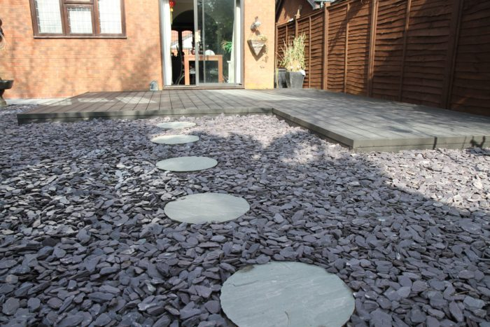Landscaping in Market Drayton - Gravel Area with Stepping Stones