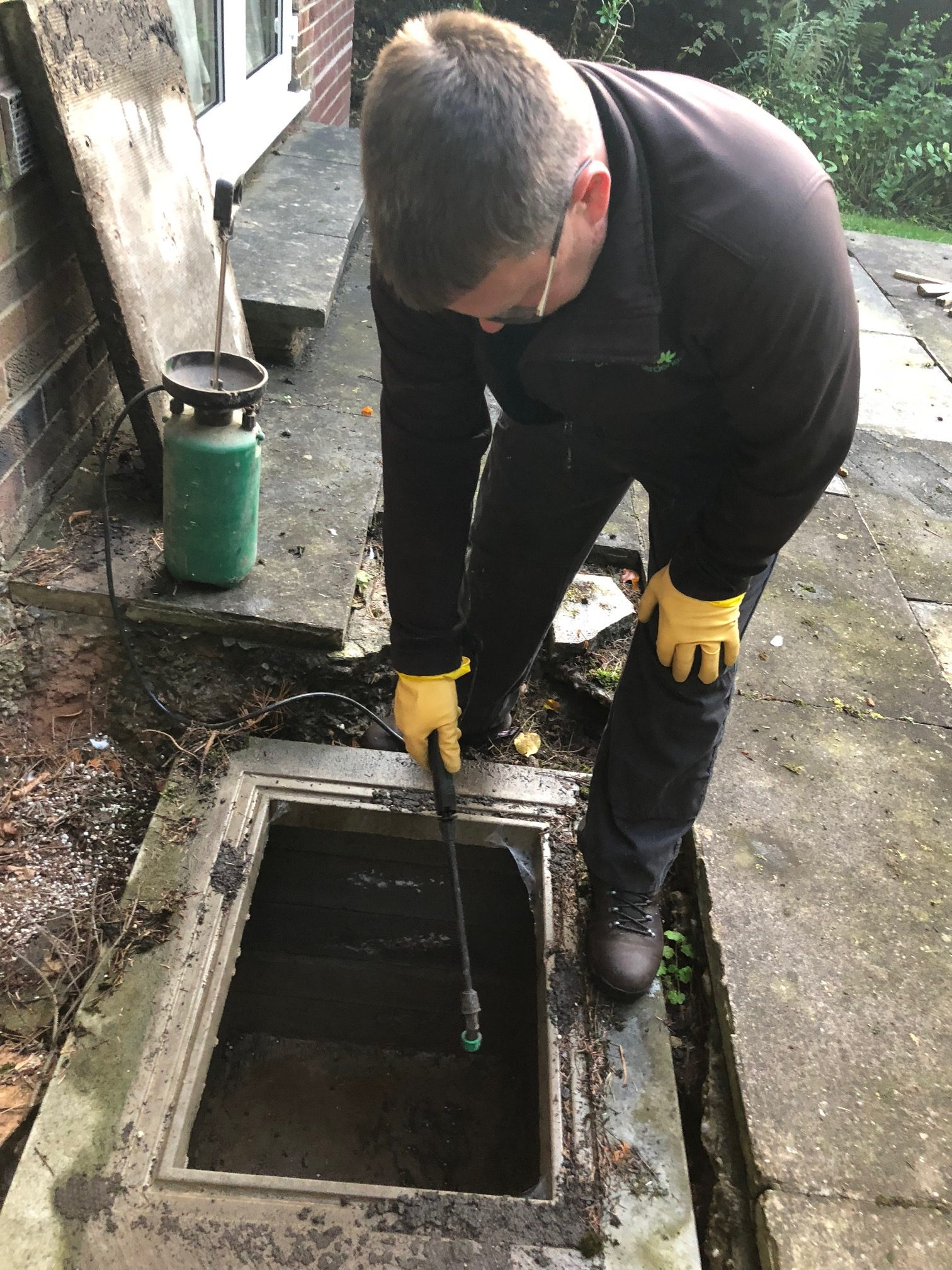 Cleaning Sewage Drains - Additional Garden Services