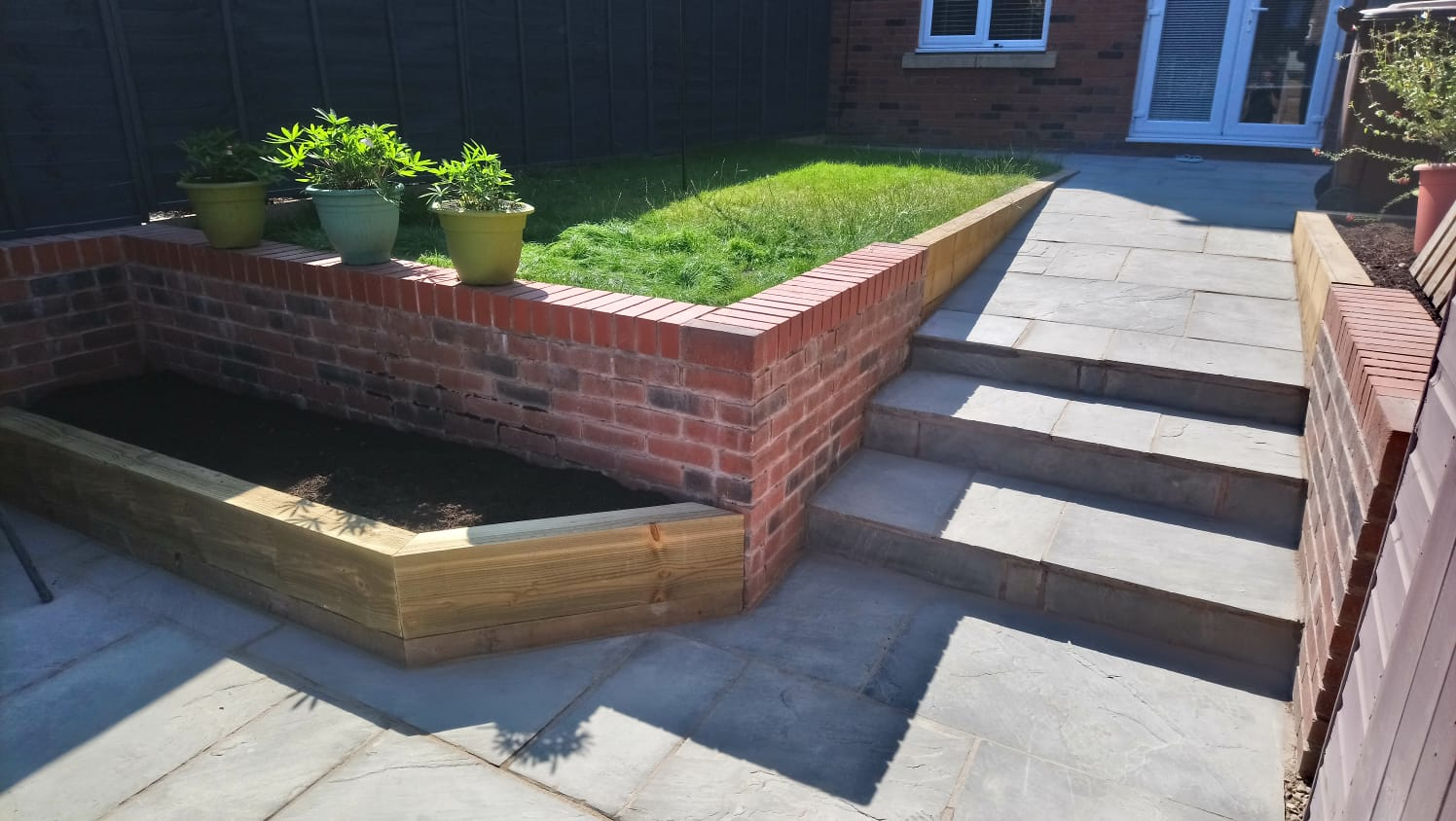 Landscaping in Endon - Indian Stone Path