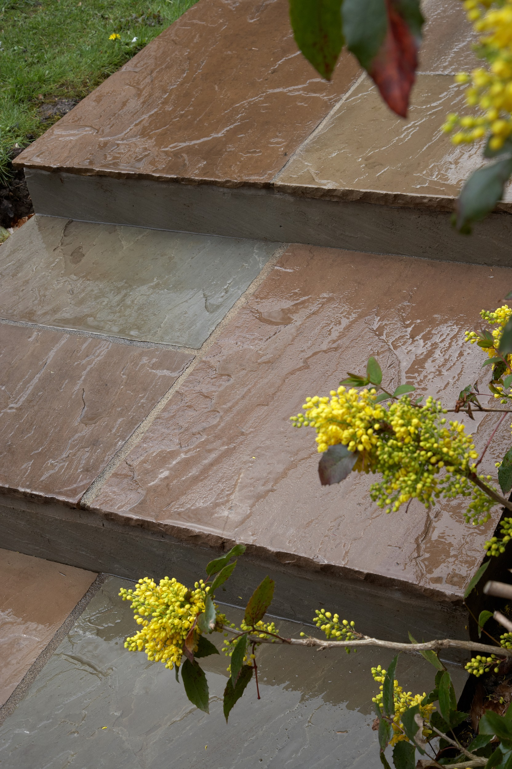 Landscaping in Baldwins Gate - Indian Stone Steps