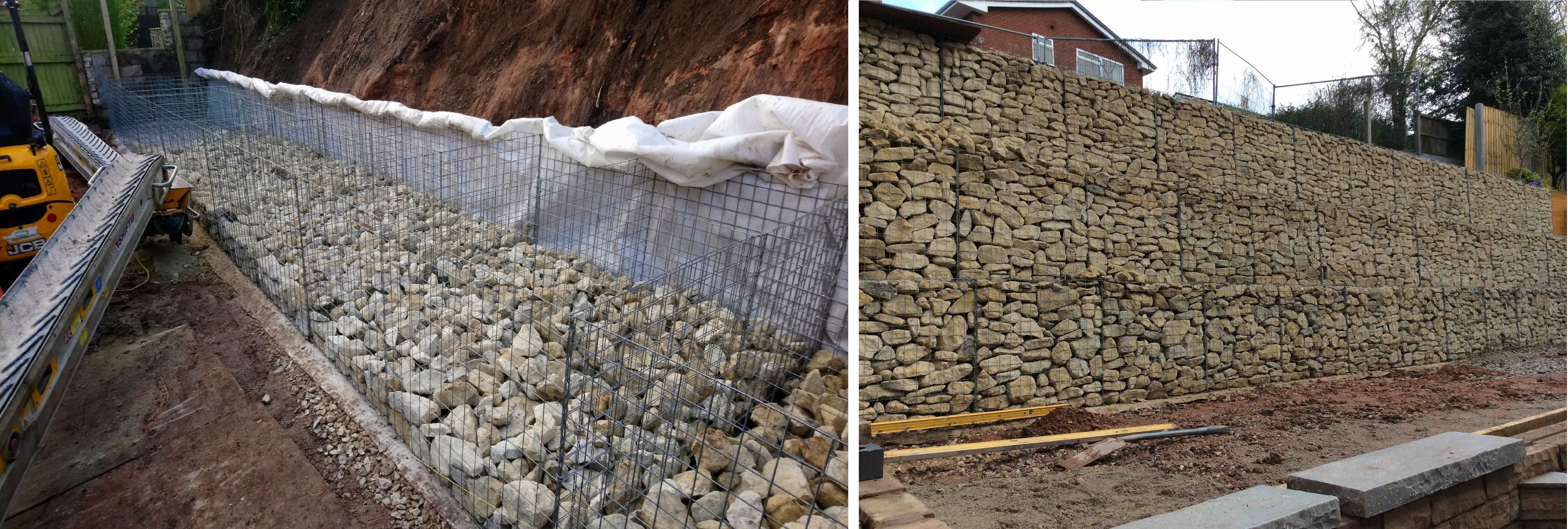 Building the Gabion Retaining Wall