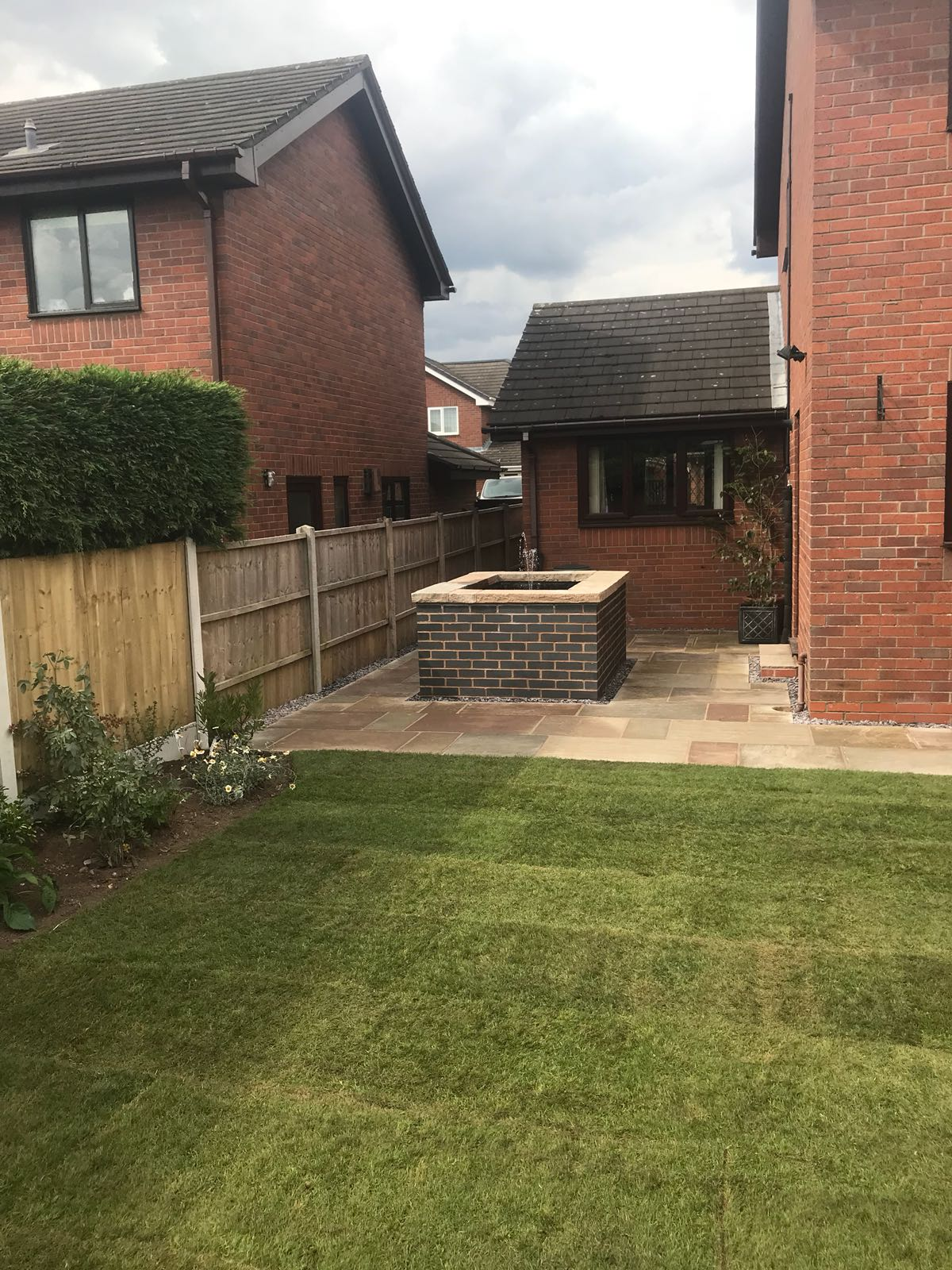 Landscaping - Turfing, Patio Area and Water Feature Pond