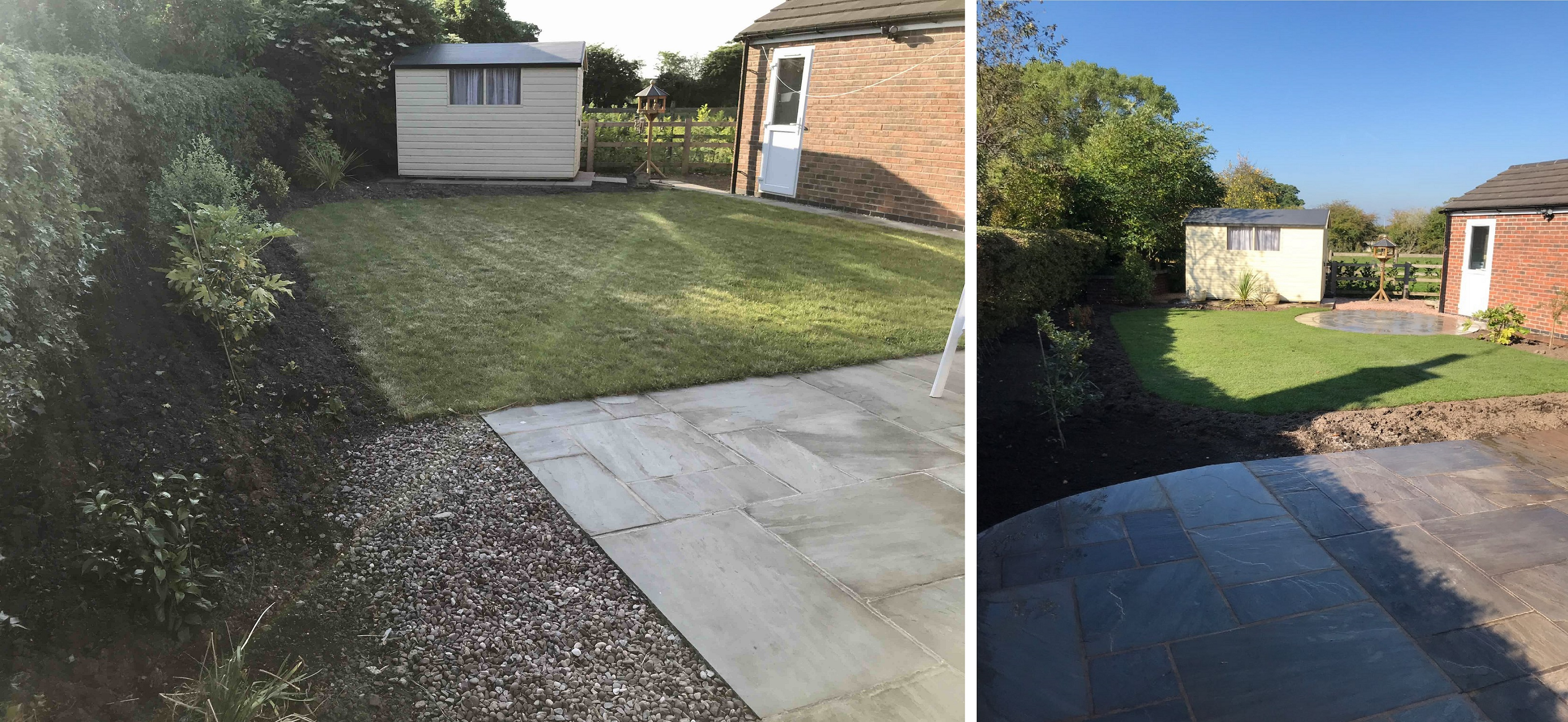 Landscaping in Stone - Before and After