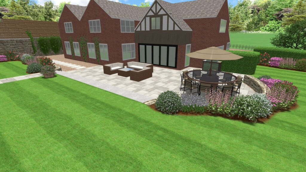 CAD Design Rear Garden Design with Outdoor Seating & Planting Area-min-min (1)